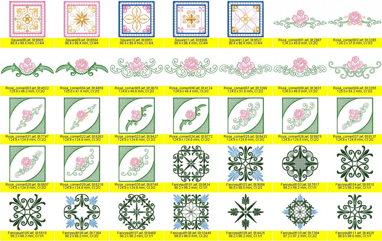 Готовые дизайны для машинной вышивки
